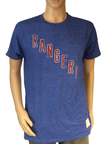 Shop New York Rangers Retro Brand Royal Blue Tri-Blend Short Sleeve T-Shirt