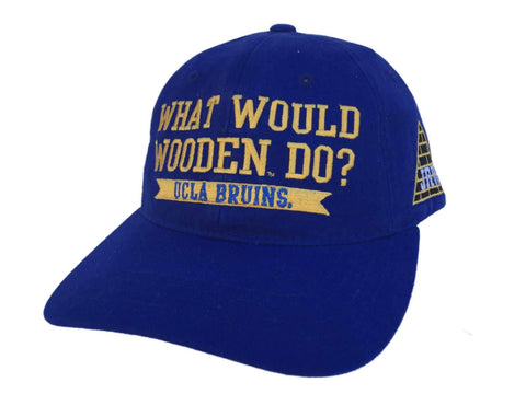 "Shop UCLA Bruins Retro Brand Blue ""What Would Wooden Do?"" Adjustable Hat Cap"