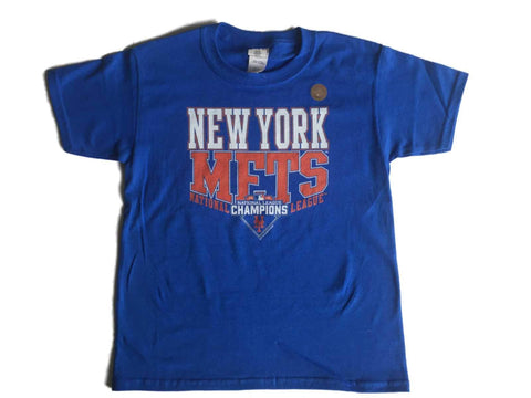 Shop New York Mets SAAG YOUTH Blue National League Champions 2015 T-Shirt
