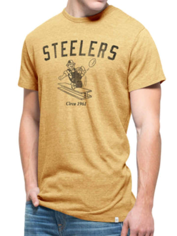 Shop Pittsburgh Steelers 47 Brand Gold Tri-State Legacy 1962 Tri-Blend T-Shirt - Sporting Up