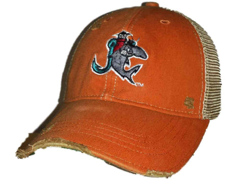 Shop Jupiter Hammerheads Retro Brand Orange Worn Style Adj Snapback Mesh Hat Cap