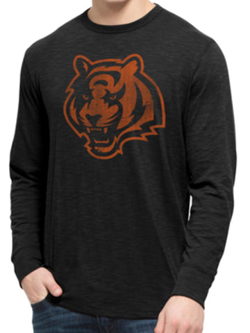 Shop Cincinnati Bengals 47 Brand Jet Black Long Sleeve Soft Scrum T-Shirt
