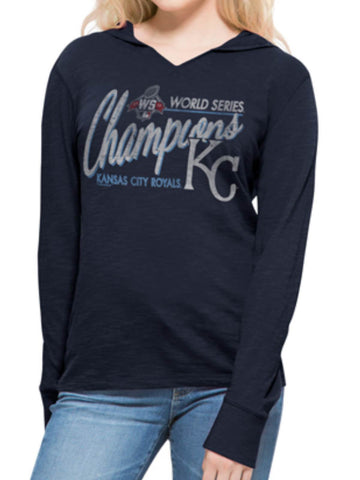 Shop Kansas City Royals 47 Brand Women 2015 World Series Champs LS Hoodie T-Shirt
