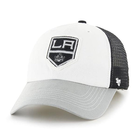 Los Angeles Kings 47 Brand Tri-Tone Privateer Closer Mesh Flexfit Slouch Hat Cap