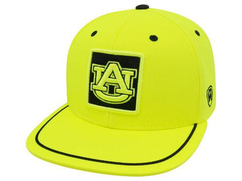 Shop Auburn Tigers TOW Neon Yellow Clubhouse Adjustable Snapback Flat Bill Hat Cap