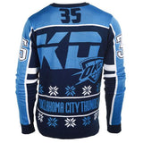 Oklahoma City Thunder FC Navy Kevin Durant #35 KD Knit Player Ugly Sweater