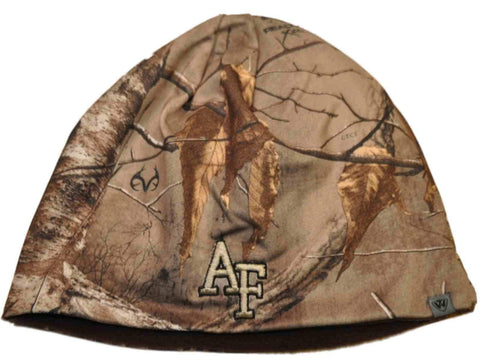 Air Force Falcons TOW Camo Brown Trap 1 Reversible Knit Winter Beanie Hat Cap
