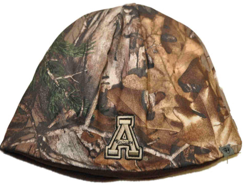 Shop Appalachian State Mountaineers TOW Camo Brown Trap 1 Reversible Beanie Hat Cap