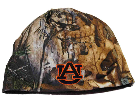 Shop Auburn Tigers TOW Camo Brown Trap 1 Reversible Knit Winter Beanie Hat Cap