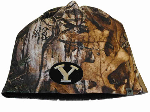 Shop BYU Cougars TOW Camo Brown Trap 1 Reversible Knit Winter Beanie Hat Cap