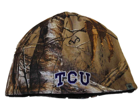 Shop TCU Horned Frogs TOW Camo Brown Trap 1 Reversible Knit Winter Beanie Hat Cap
