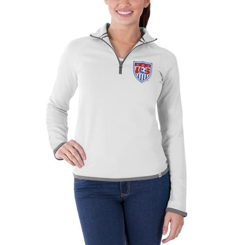 USA United States Soccer Team 47 Brand Women White Showdown Pullover