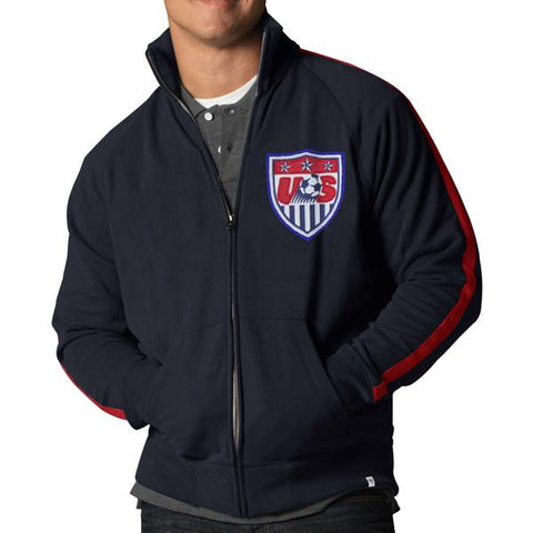 Shop USA United States Soccer Team 47 Brand Navy Scrimmage Zip Up Track Jacket