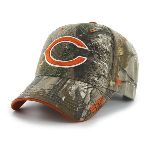 Chicago Bears 47 Brand Realtree Camo Frost MVP Adjustable Hat Cap