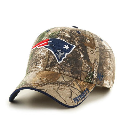 New England Patriots 47 Brand Realtree Camo Frost MVP Adjustable Hat Cap