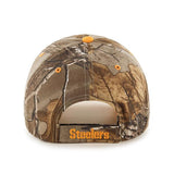 Pittsburgh Steelers 47 Brand Realtree Camo Frost MVP Adjustable Hat Cap - Sporting Up