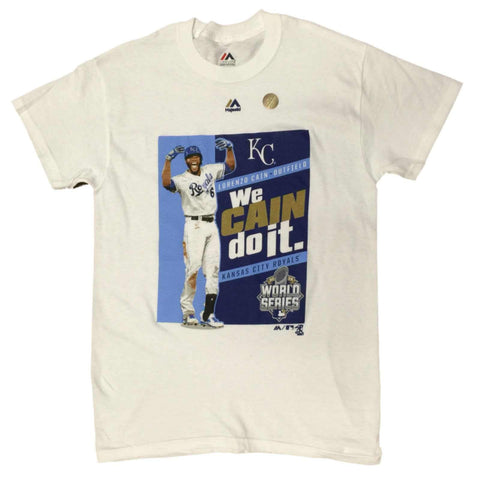 Shop Kansas City Royals 2015 World Series Champs Lorenzo Cain Player T-Shirt