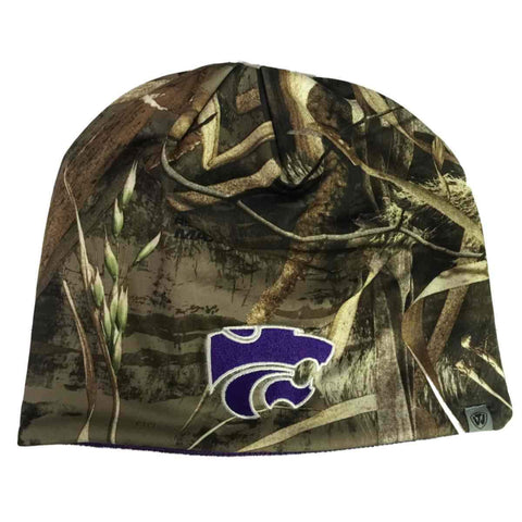 Shop Kansas State Wildcats TOW Realtree Max5 Purple Seasons Reversible Beanie Hat Cap
