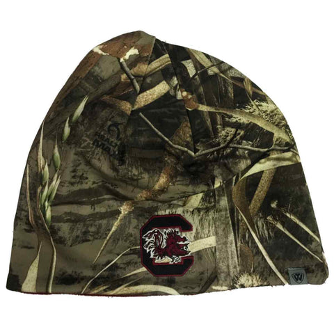 Shop South Carolina Gamecocks TOW Realtree Max5 Red Seasons Reversible Beanie Hat Cap