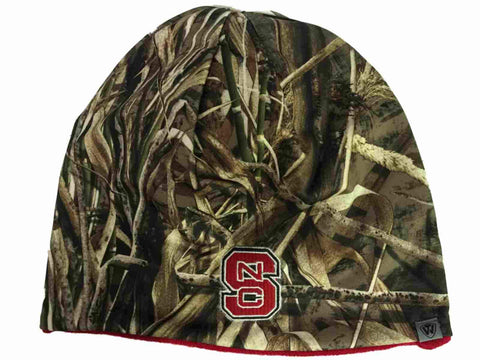 Shop NC State Wolfpack TOW Realtree Max5 Red Seasons Reversible Knit Beanie Hat Cap