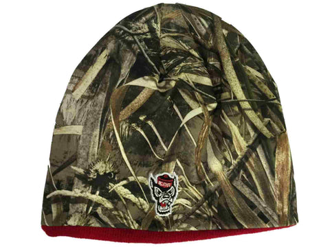 2a265d5009c692 NC State Wolfpack TOW Realtree Max5 Red Seasons Reversible Knit Beanie Hat  Cap |