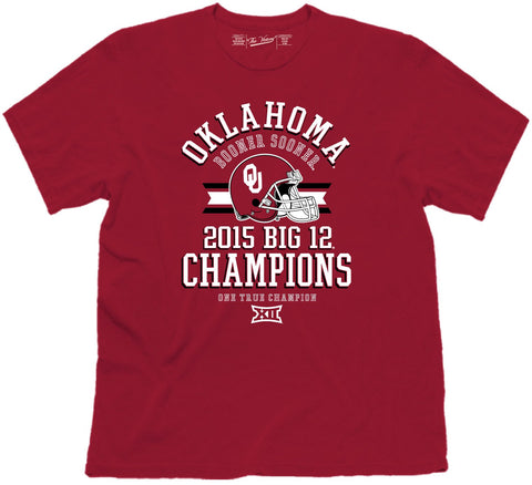 Oklahoma Sooners Victory 2015 Football Big 12 Conference Champions T-Shirt - Sporting Up