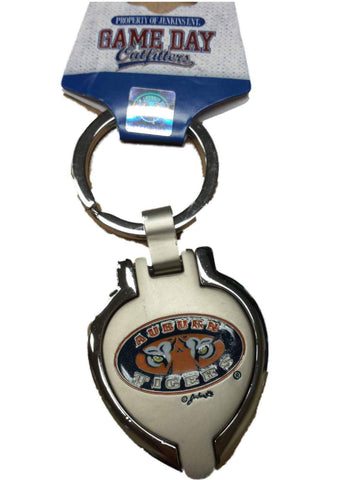 Shop Auburn Tigers Jenkins Ent. Silver Locket Picture Frame Team Logo Keychain