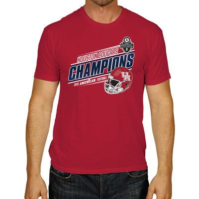 Shop Houston Cougars 2015 Football AAC Conference Champions Red Locker Room T-Shirt