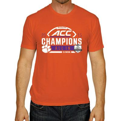Shop Clemson Tigers 2015 Football ACC Conference Champions Locker Room T-Shirt