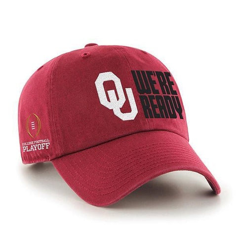 Shop Oklahoma Sooners 47 Brand 2018 College Football Playoff We're Ready Adj Hat Cap