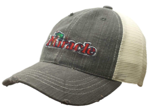 Fort Myers Miracle Retro Brand Gray Worn Vintage Adj Snapback Mesh Hat Cap 84e4bb852
