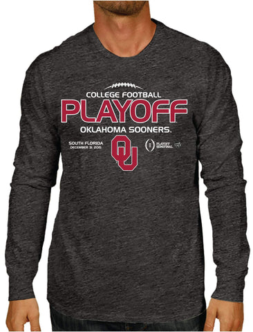 Oklahoma Sooners Victory 2016 College Football Playoff Gray LS T-Shirt - Sporting Up