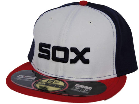 Chicago White Sox New Era Red White Blue 59Fifty On-Field Fitted Hat Cap
