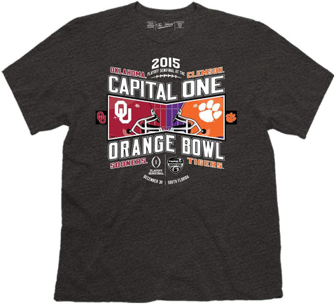 Shop Oklahoma Sooners Clemson Tigers Victory 2015 Orange Bowl Football T-Shirt