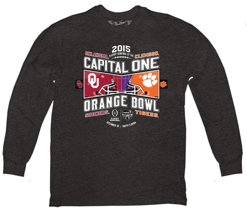 Oklahoma Sooners Clemson Tigers Victory 2015 Orange Bowl Football LS T-Shirt - Sporting Up