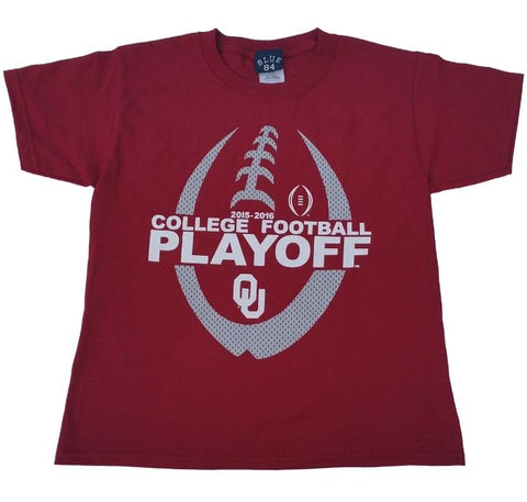 Oklahoma Sooners Blue 84 YOUTH 2016 College Football Playoff Red T-Shirt