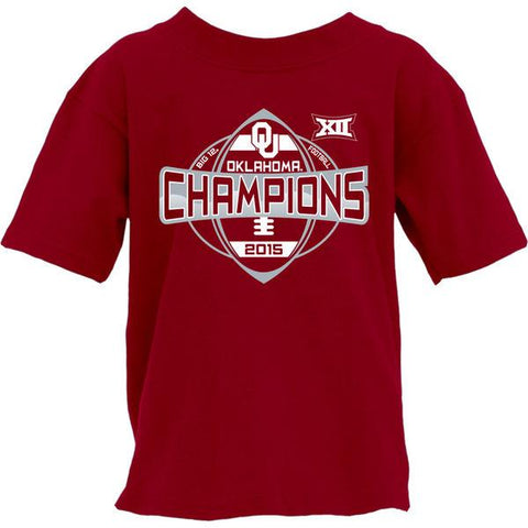 Oklahoma Sooners YOUTH 2015 Football Big 12 Conference Champions T-Shirt