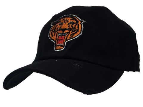 Shop Brooklyn Tigers Reebok Black Worn Vintage Logo Flexfit Hat Cap