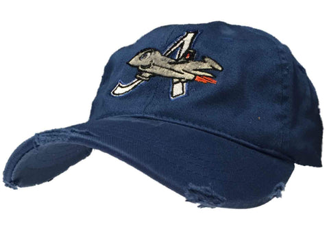 Aberdeen Ironbirds Retro Brand MILB Blue Worn Vintage Flexfit Hat Cap (L/XL)