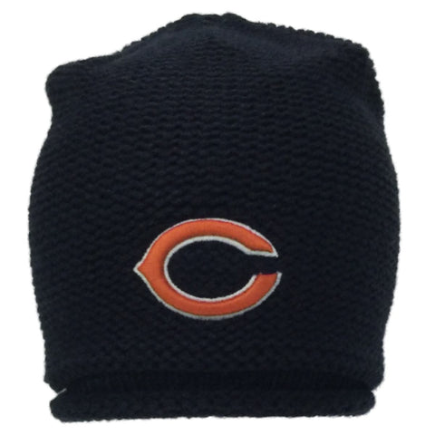 Shop Chicago Bears 47 Brand Women Navy Rolled Bottom Knit Beanie Hat Cap - Sporting Up