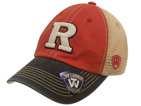 Rutgers Scarlet Knights TOW Red Black Offroad Adjustable Snapback Mesh Hat Cap