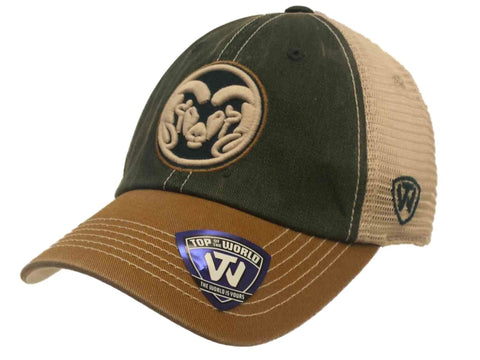 2115fa16478 Colorado State Rams TOW Green Gold Offroad Adjustable Snapback Mesh Hat Cap