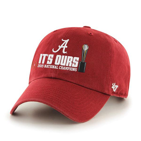 Shop Alabama Crimson Tide 47 Brand 2016 Football National Champions Red Adj Hat Cap