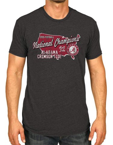 Alabama Crimson Tide 2016 College Football Champions USA Dark Gray T-Shirt