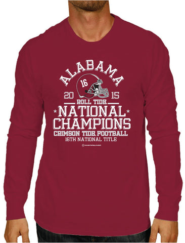 Shop Alabama Crimson Tide 2016 College Football Playoff Champs Red LS T-Shirt