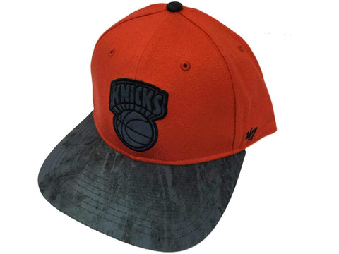 New York Knicks 47 Brand Orange Gray Flatbill Snapback Adjustable Hat Cap