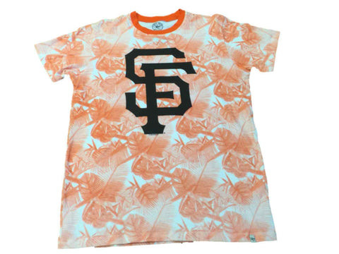 Shop San Francisco Giants 47 Brand Orange Floral Print Short Sleeve T-Shirt (M)