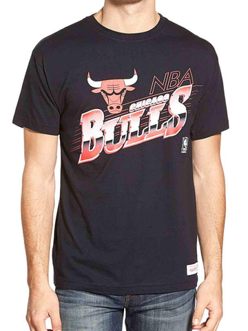 Chicago Bulls  Mitchell & Ness Black & Red Short Sleeve Cotton T-Shirt (L)
