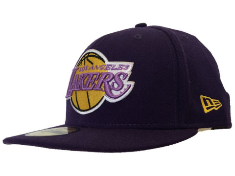 Los Angeles Lakers New Era 59Fifty Purple NBA Hardwood Classic Fitted Hat Cap