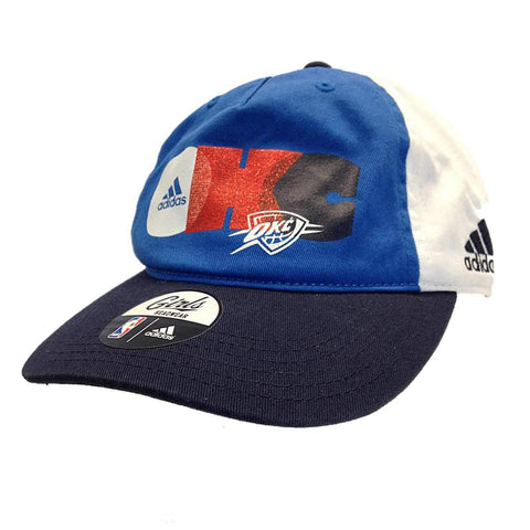 Oklahoma City Thunder Adidas Youth Girls Navy Adjustable Strap Slouch Hat Cap
